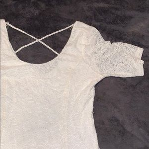 White Charlotte Russe lace dress